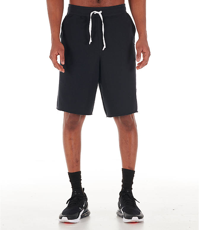 Front Three Quarter view of Men's Nike Sportswear Alumni Shorts in Black/White