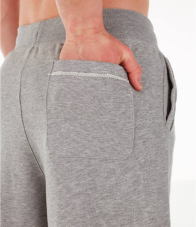 Detail 1 view of Men's Nike Sportswear Alumni Fleece Shorts in Dark Grey Heather/White