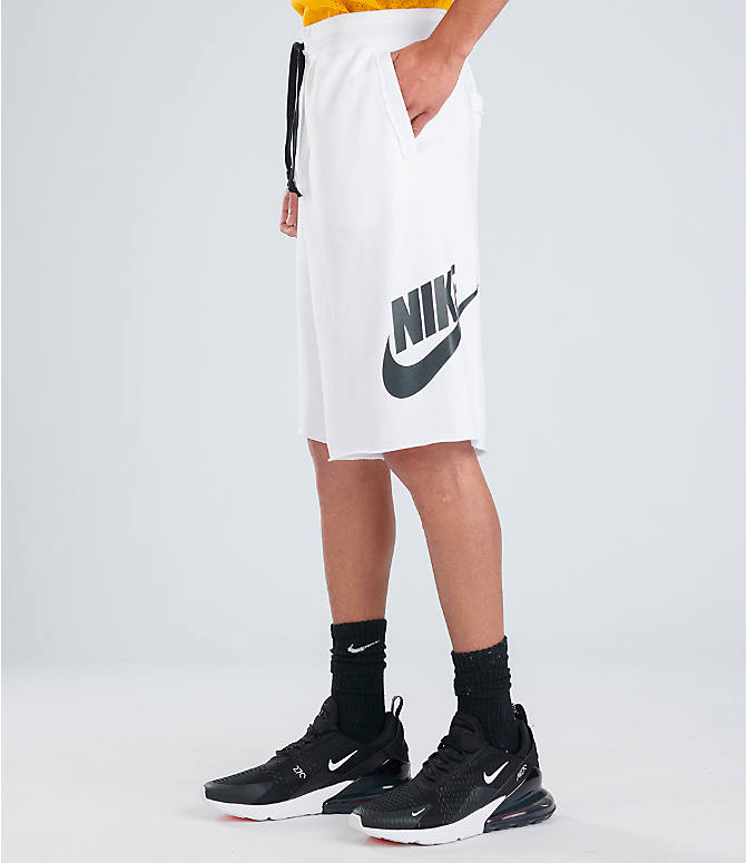 Front view of Men's Nike Sportswear Alumni Shorts in White/Black