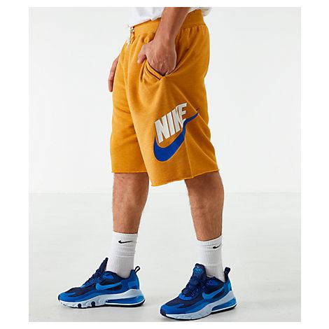 Nike Men's Sportswear Alumni Fleece Shorts In Yellow