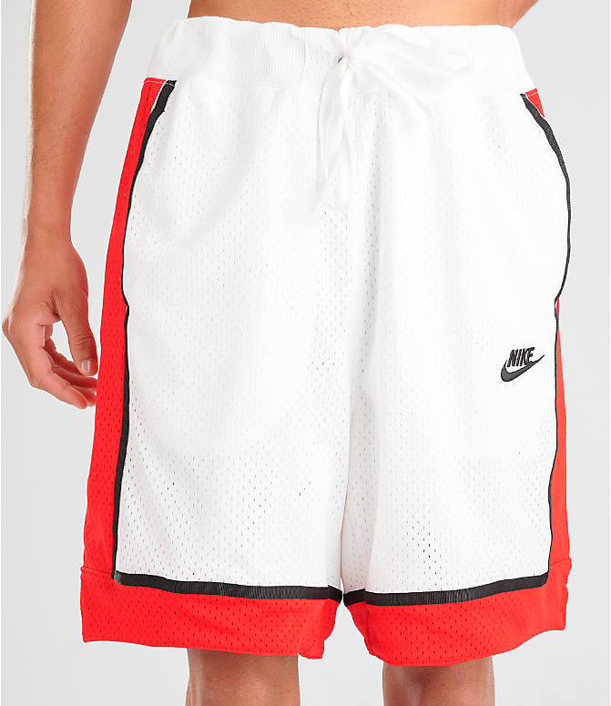 Detail 2 view of Men's Nike Sportswear Statement Mesh Shorts in White/Red