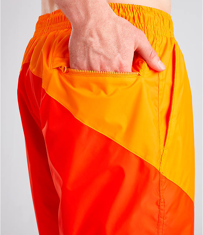Detail 2 view of Men's Nike Sportswear Windrunner Shorts in Orange Peel