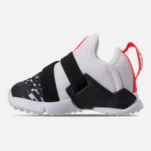 Left view of Boys' Toddler Nike Huarache Extreme Running Shoes in White/Bright Crimson/Black/Wolf Grey