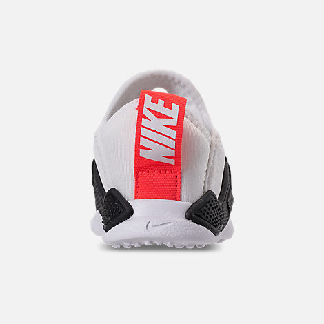 Back view of Boys' Toddler Nike Huarache Extreme Casual Shoes in White/Bright Crimson/Black/Wolf Grey