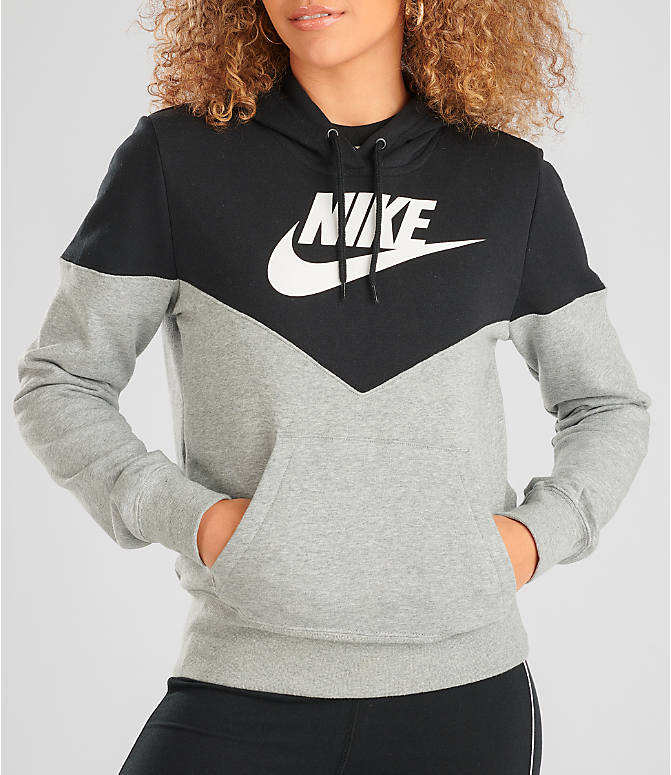 Detail 2 view of Women's Nike Sportswear Heritage Fleece Hoodie