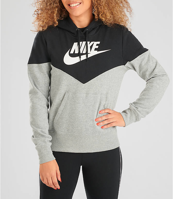 Front view of Women's Nike Sportswear Heritage Fleece Hoodie