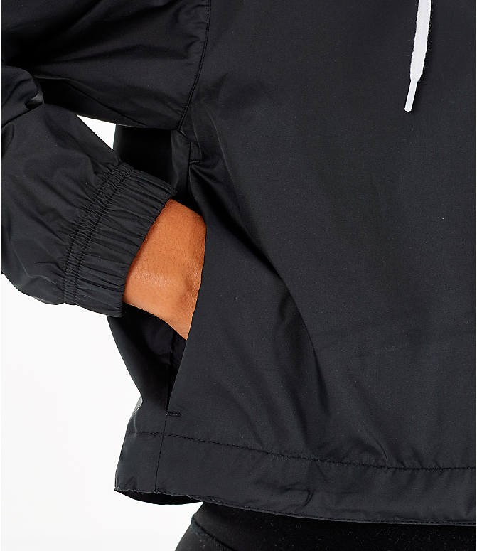 Detail 1 view of Women s Nike Sportswear Heritage Crop Windrunner Jacket in  Black White ee522a8a1