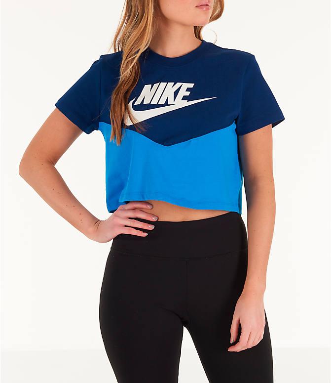 cb30cfdff5c1c Women's Nike Sportswear Heritage Cropped T-Shirt