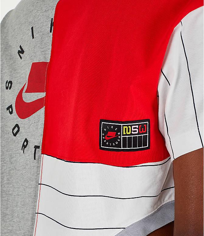 Detail 1 view of Women s Nike Sportswear Mixed Media T-Shirt in Grey  Heather  dea8862d3