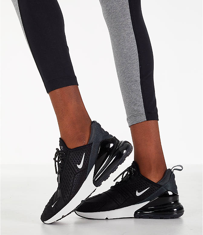 Detail 2 view of Women's Nike Leg-A-See Distort Leggings in Black/Grey/White