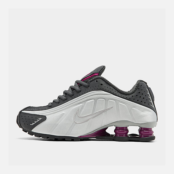 the latest 904f1 2669c Right view of Women's Nike Shox R4 Casual Shoes in Anthracite/True  Berry/Metallic