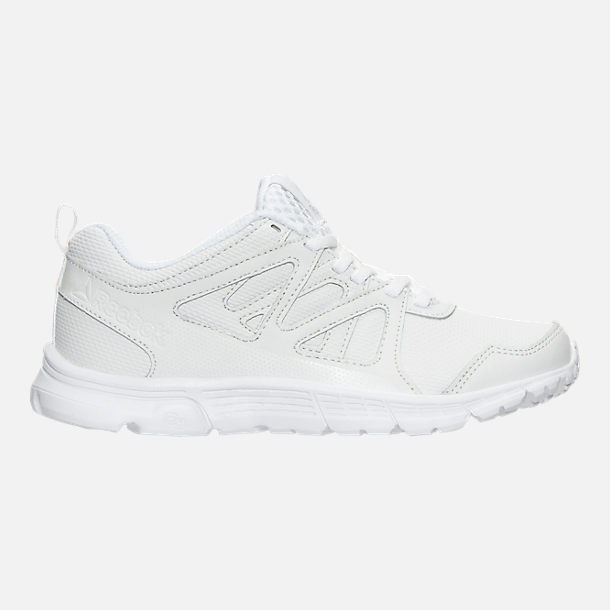 Right view of Boys' Preschool Reebok Run Supreme 2.0 Running Shoes in White/White