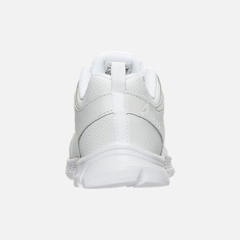 Back view of Boys' Preschool Reebok Run Supreme 2.0 Running Shoes in White/White
