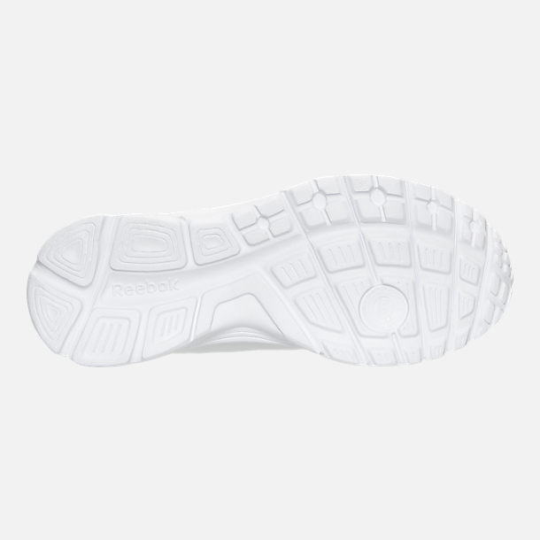 Bottom view of Boys' Preschool Reebok Run Supreme 2.0 Running Shoes in White/White