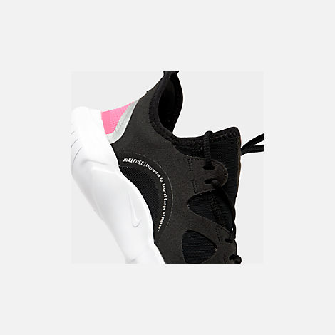 a8ae30ea0f61 Front view of Girls  Big Kids  Nike Free RN 5.0 Running Shoes in Black