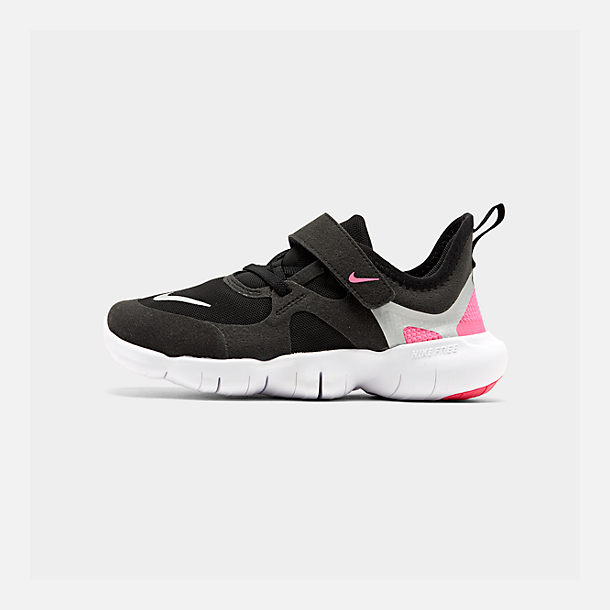 super popular 2a2a8 ef92b Right view of Girls  Little Kids  Nike Free RN 5.0 Running Shoes in Black