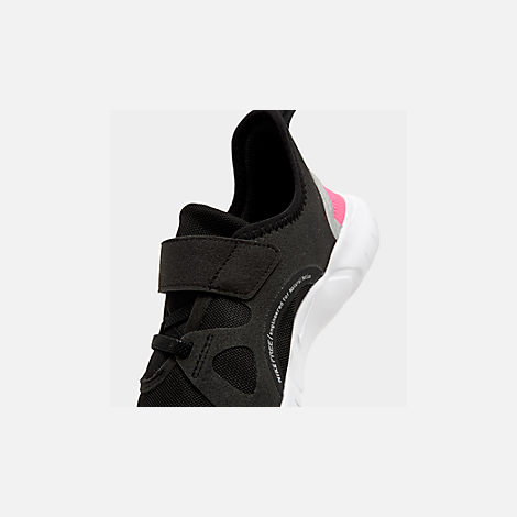 a986af80ac6a Front view of Girls  Little Kids  Nike Free RN 5.0 Running Shoes in Black