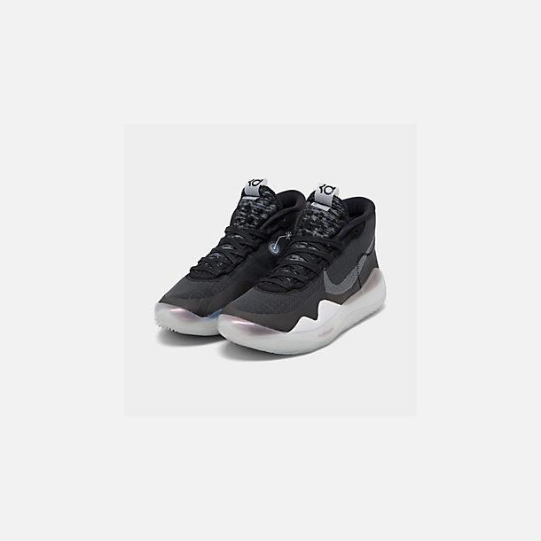 26ec3fc0d287a Three Quarter view of Boys' Big Kids' Nike Zoom KD12 Basketball Shoes in  Black