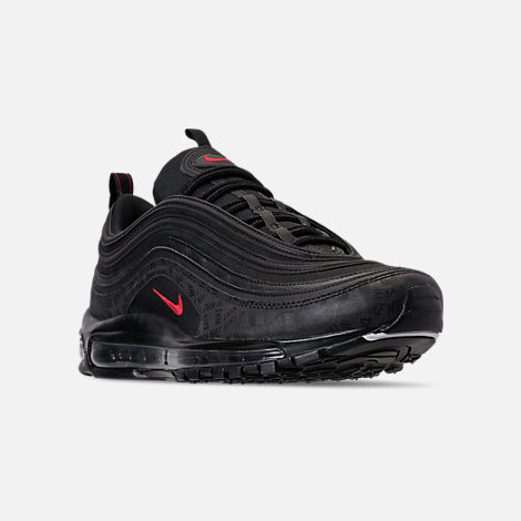 Three Quarter view of Men's Nike Air Max 97 Future Tech Casual Shoes in  Black/