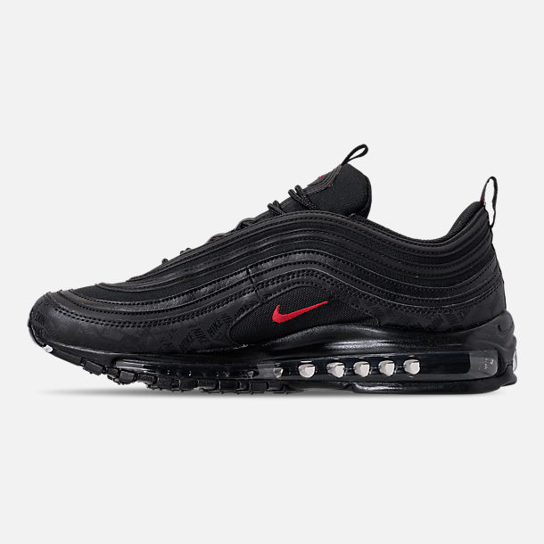 Left view of Men's Nike Air Max 97 Future Tech Casual Shoes in Black/ University