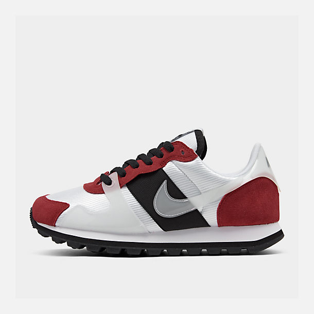 Right view of Women's Nike V-Love O.X. Casual Shoes in White/White/Gym Red/Black