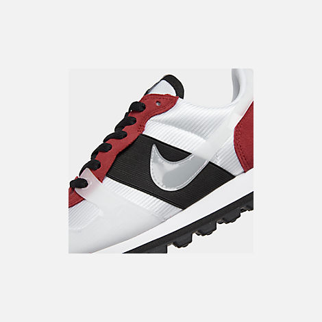 Front view of Women's Nike V-Love O.X. Casual Shoes in White/White/Gym Red/Black