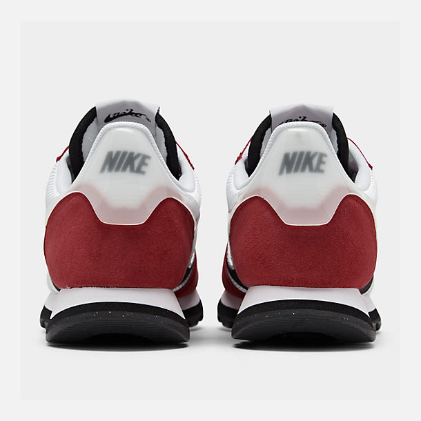 Left view of Women's Nike V-Love O.X. Casual Shoes in White/White/Gym Red/Black