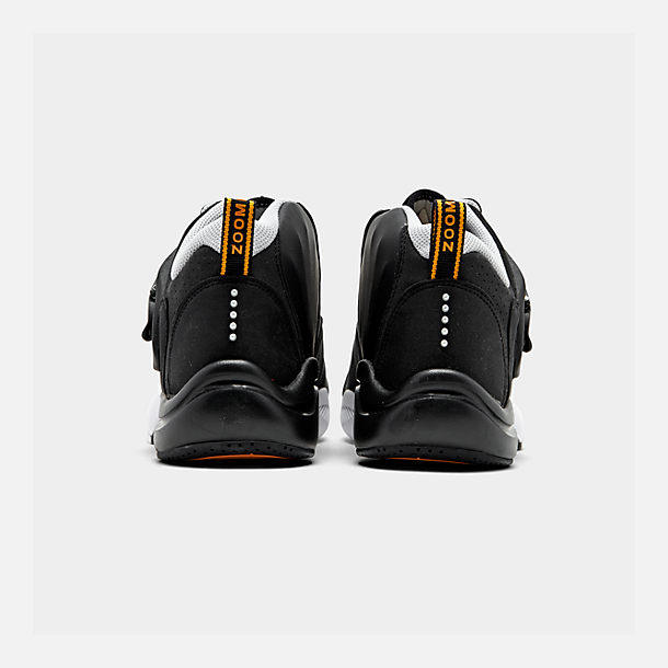 Left view of Men's Nike Zoom GP Basketball Shoes in Black/White/Canyon Gold/Metallic Platinum
