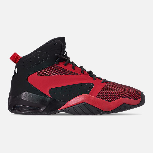 629bbfaefb Right view of Men's Air Jordan Lift Off Basketball Shoes in Black/Gym Red/
