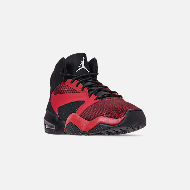 63377f68a3 Three Quarter view of Men's Air Jordan Lift Off Basketball Shoes in  Black/Gym Red