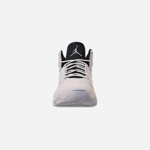 Front view of Men's Air Jordan Lift Off Basketball Shoes in Light Bone/Reflect Silver/Grey Fog/Black