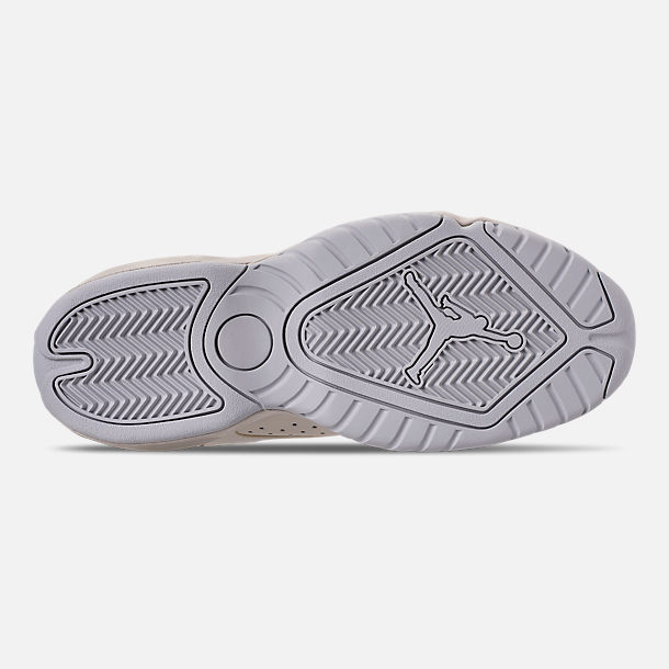 Bottom view of Men's Air Jordan Lift Off Basketball Shoes in Light Bone/Reflect Silver/Grey Fog/Black