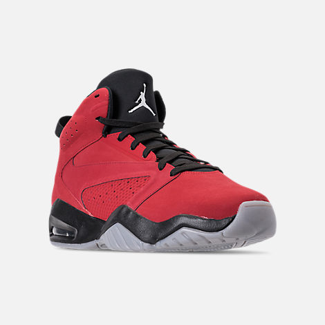 9469d568bec06 Three Quarter view of Men s Air Jordan Lift Off Basketball Shoes in Gym Red  White