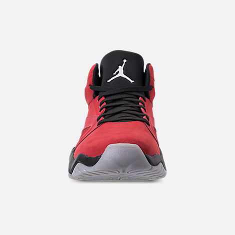 687b9cc9328 Front view of Men s Air Jordan Lift Off Basketball Shoes in Gym Red White