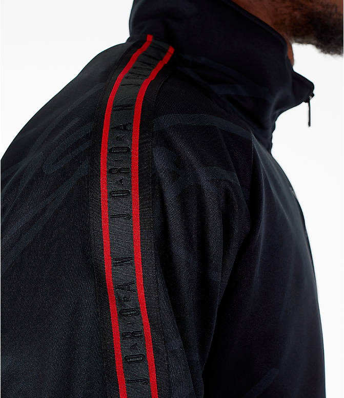 Detail 2 view of Men's Jordan Jumpman Graphic Track Jacket in Black/Gym Red