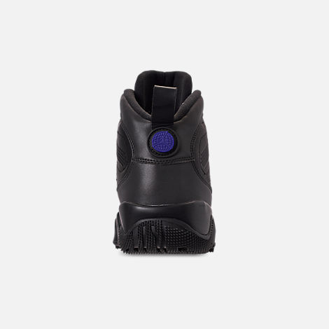 Back view of Men's Air Jordan 9 Retro NRG Sneakerboots in Black/Black/Concord