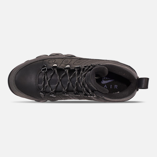 Top view of Men's Air Jordan 9 Retro NRG Sneakerboots in Black/Black/Concord