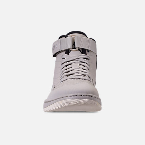 Front view of Men's Air Jordan SOG Off-Court Shoes in Light Bone/Black/Sail/Reflect Silver