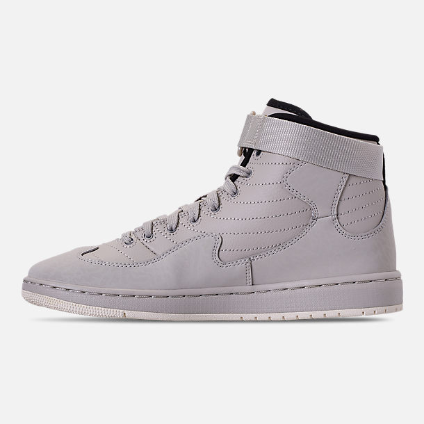 Left view of Men's Air Jordan SOG Off-Court Shoes in Light Bone/Black/Sail/Reflect Silver