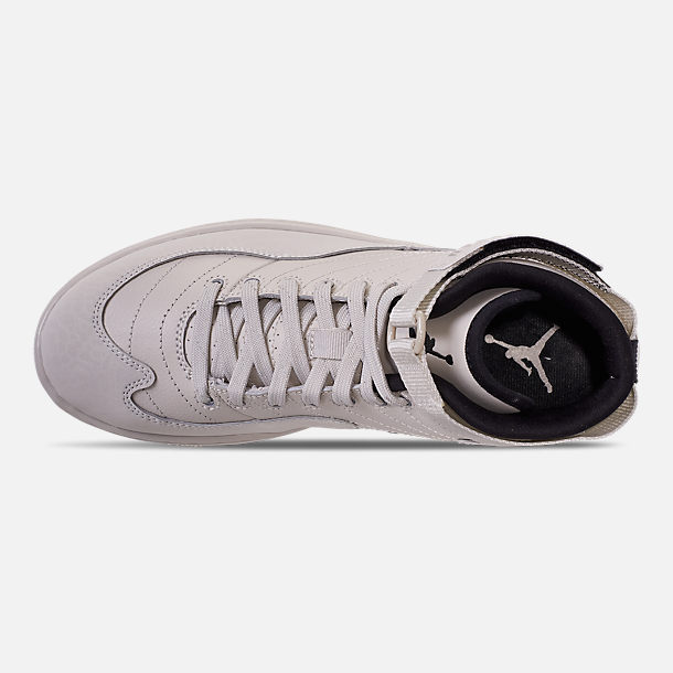 Top view of Men's Air Jordan SOG Off-Court Shoes in Light Bone/Black/Sail/Reflect Silver
