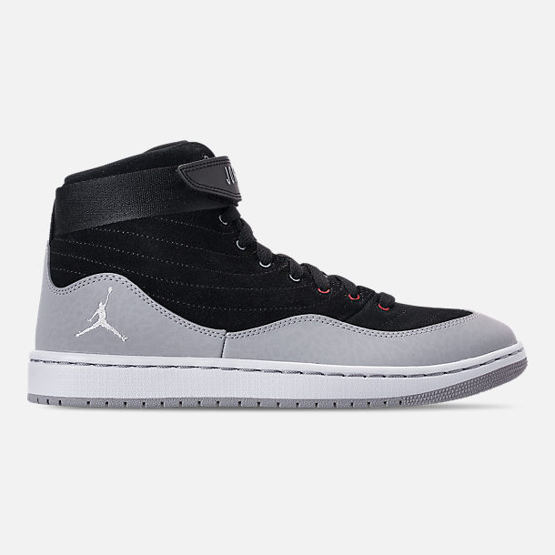Right view of Men's Air Jordan SOG Off-Court Shoes in Black/White/Gym Red/Cement Grey