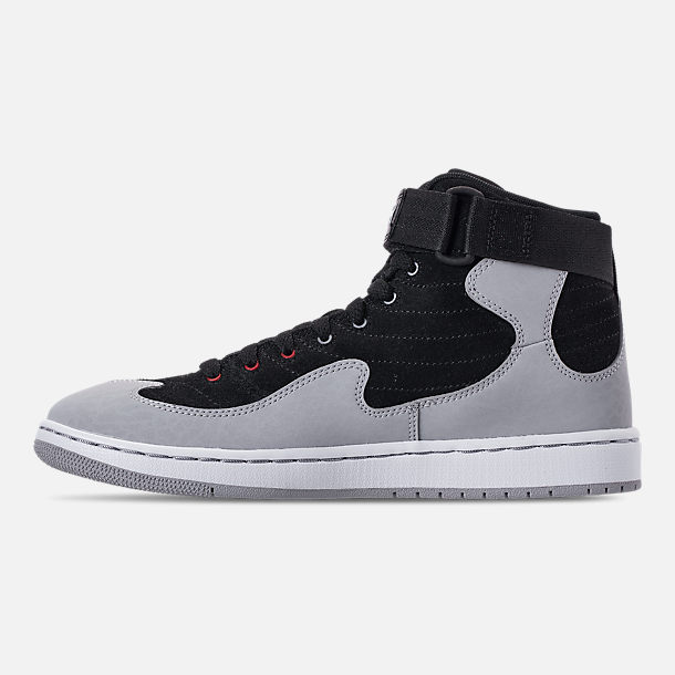 Left view of Men's Air Jordan SOG Off-Court Shoes in Black/White/Gym Red/Cement Grey
