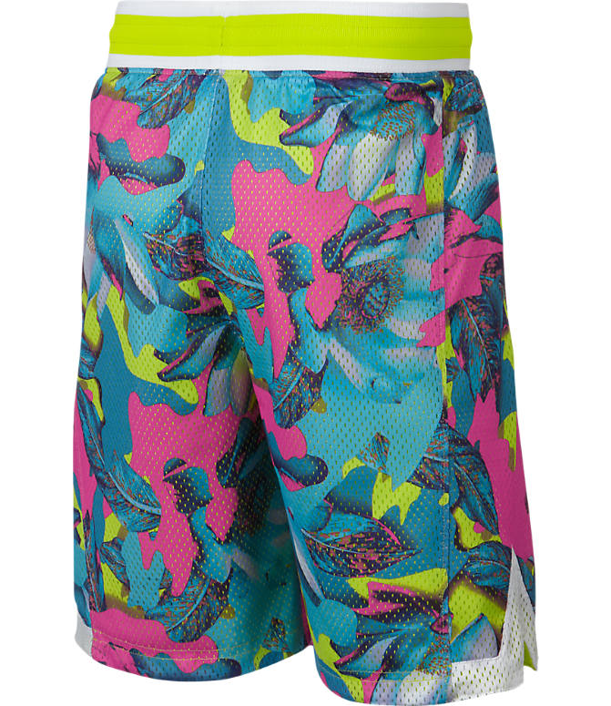 Product 3 view of Boys' Nike Hoopfly Allover Print Basketball Shorts in Laser Fuchsia/Cyber