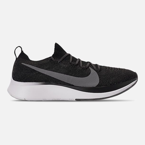 4434f39ec90b Right view of Men s Nike Zoom Fly Flyknit Running Shoes in  Black Gunsmoke White