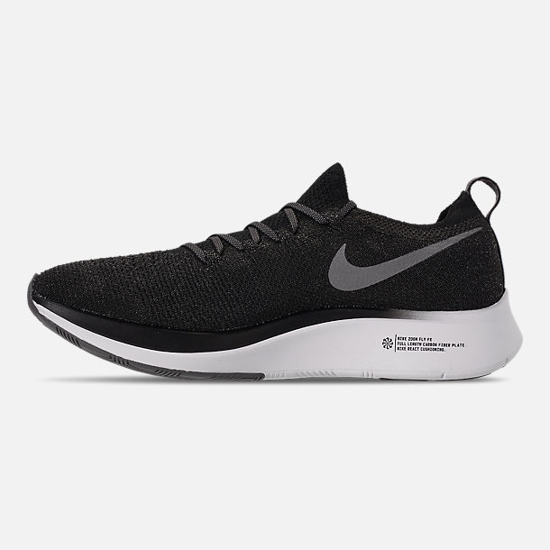 f328987a1c98 Left view of Men s Nike Zoom Fly Flyknit Running Shoes in  Black Gunsmoke White