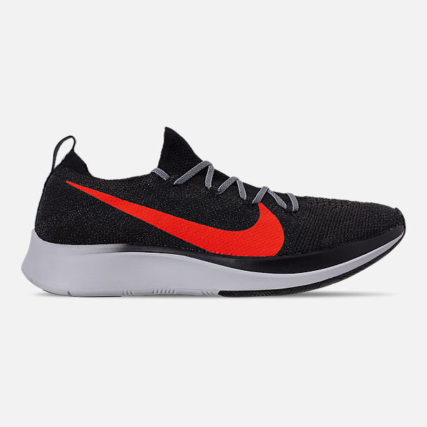 219e035d21432 Right view of Men s Nike Zoom Fly Flyknit Running Shoes in Black Bright  Crimson