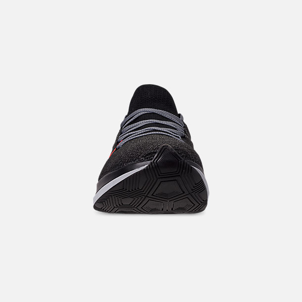 low priced 9962f 400c7 Front view of Men s Nike Zoom Fly Flyknit Running Shoes in Black Bright  Crimson