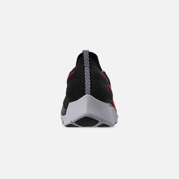 d4814d2196ca0 Back view of Men s Nike Zoom Fly Flyknit Running Shoes in Black Bright  Crimson