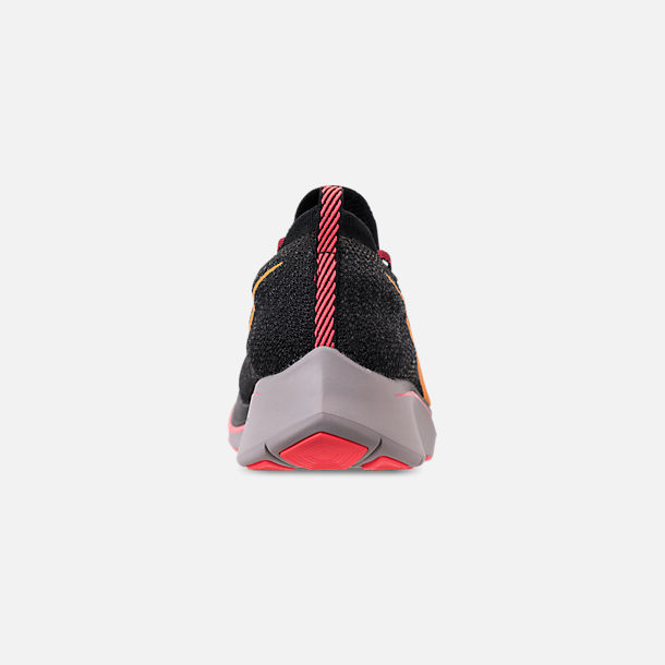 online store aa4fd 2242a Back view of Men s Nike Zoom Fly Flyknit Running Shoes in Black Flash  Crimson