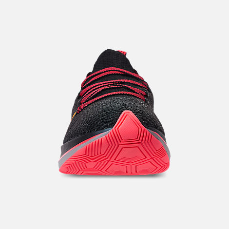Front view of Women's Nike Zoom Fly Flyknit Running Shoes in Black/Flash Crimson/Orange Peel